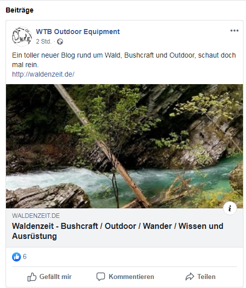 Danke an WTB Outdoor