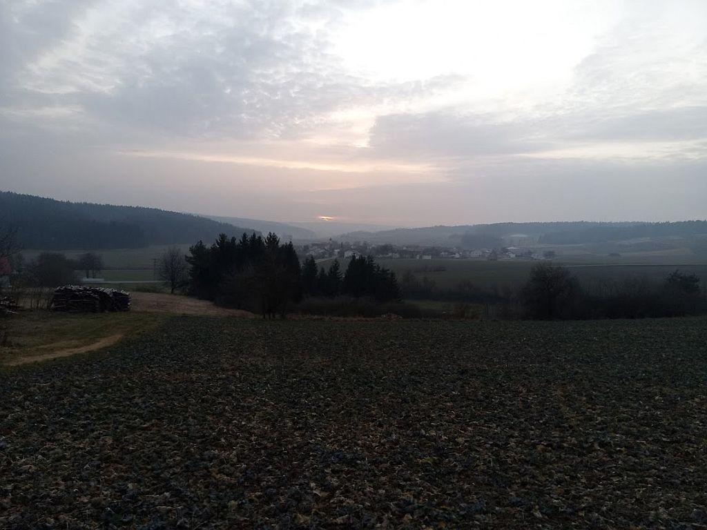 Sonnenuntergang Wald Nassenfels