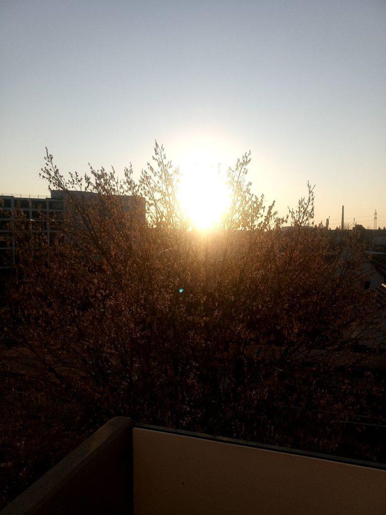 Sonnenuntergang Urban Zuhause