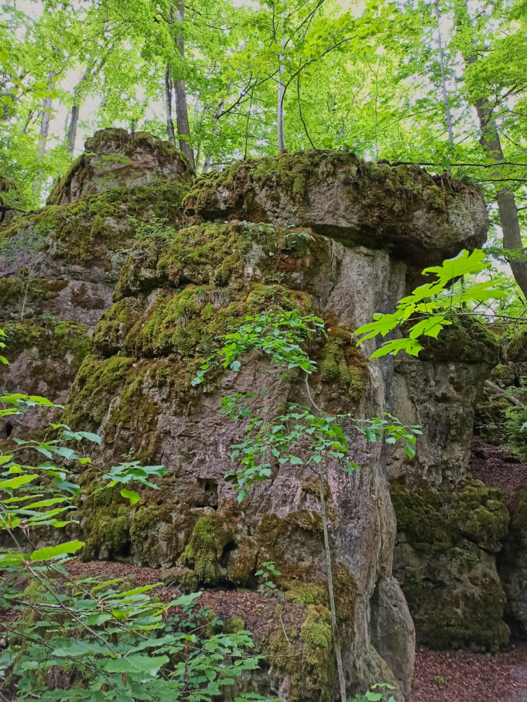 Felsformation Wanderung Burg Wellheim Zigeunerloch