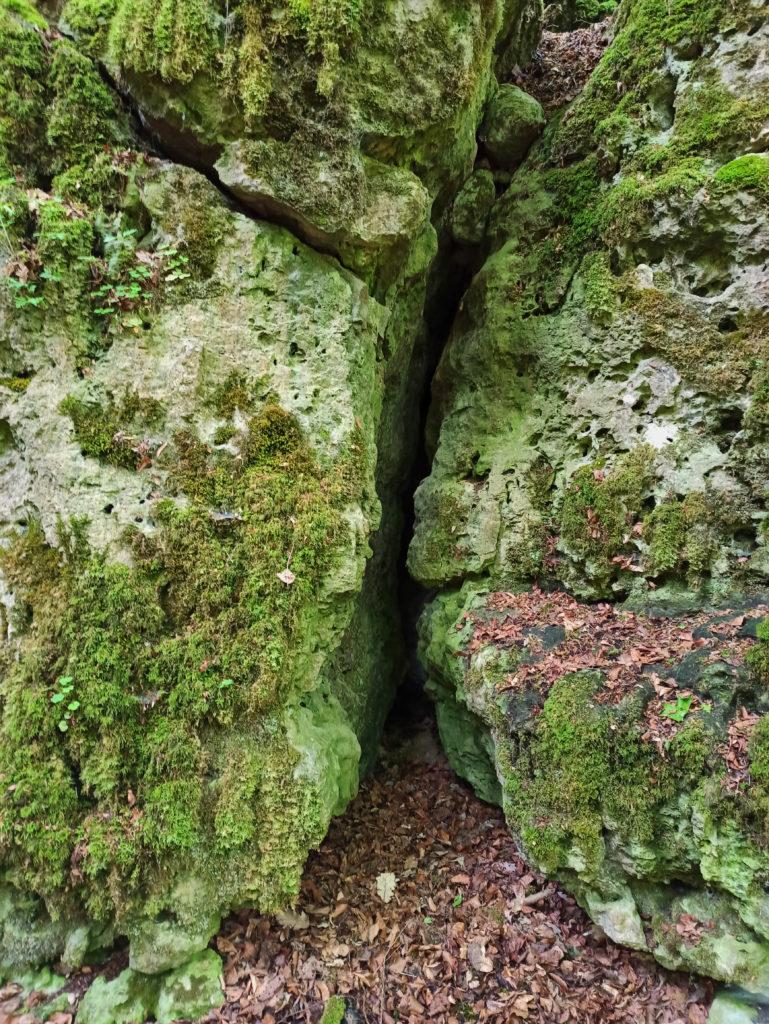 Zugang zum ZigeunerlochWanderung Burg Wellheim Zigeunerloch