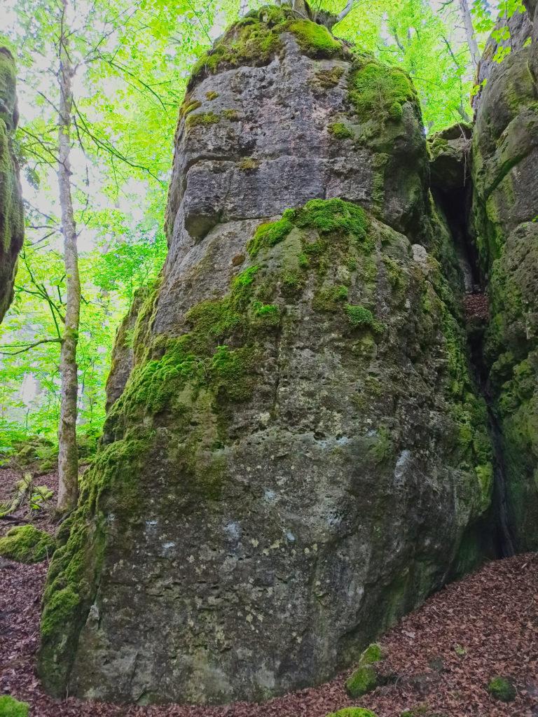 Mächtiger Fels Wanderung Burg Wellheim Zigeunerloch